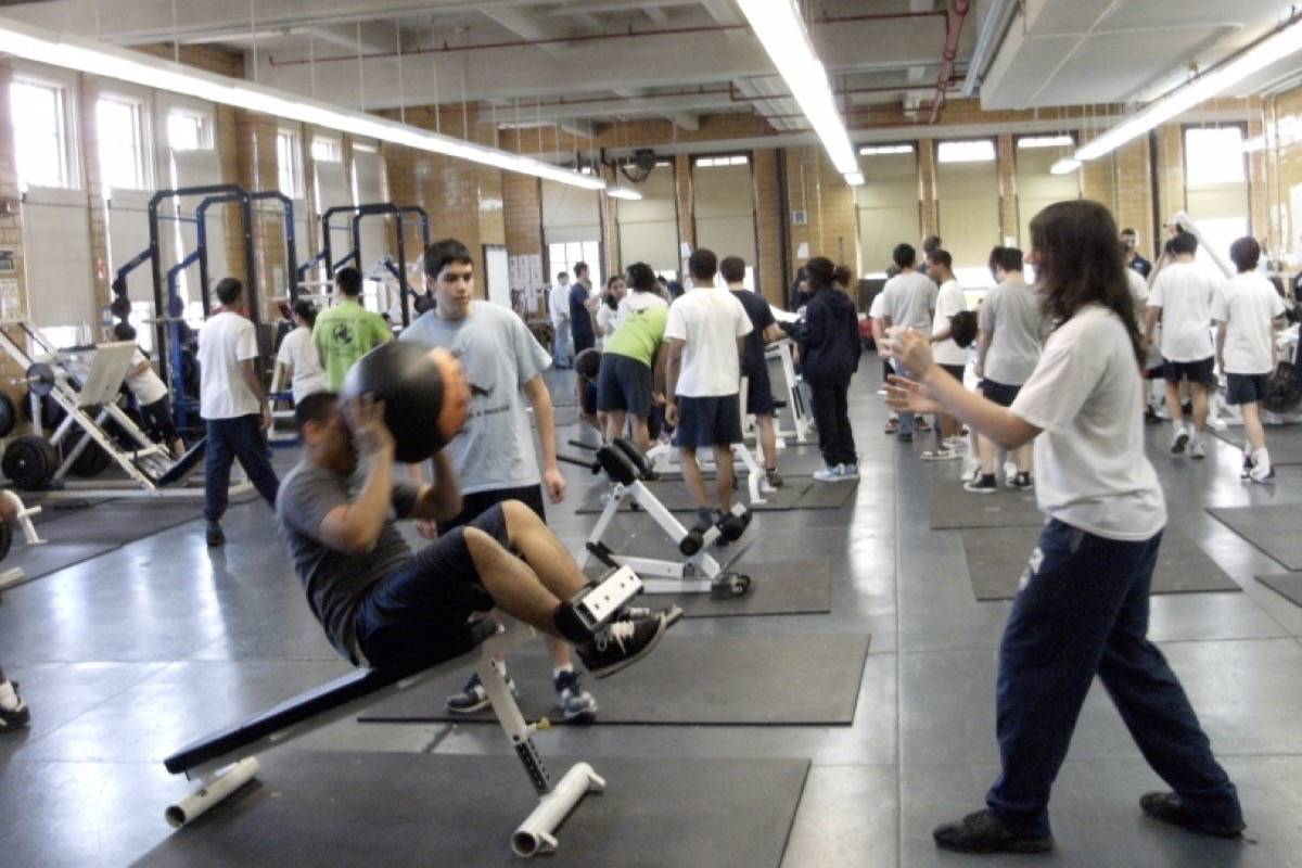 Students in gym class. (File photo)