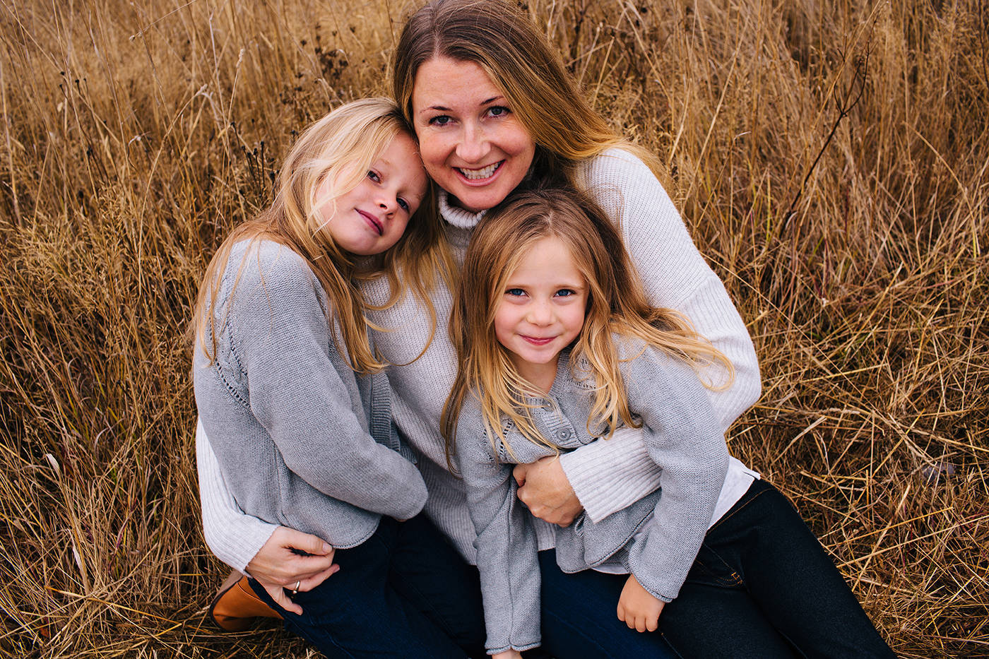 Sarah Cotton with her daughters Chloe (left) and Aubrey (right) taken in October 2017. (Photo Ryan MacDonald Photography)