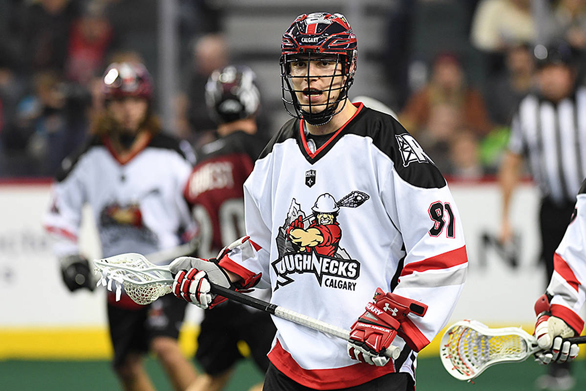 Anthony Kalinich has started his professional lacrosse career with the Calgary Roughnecks. The Maple Ridge product is still eligible to play two seasons of junior A with the Langley Thunder. (Contributed)
