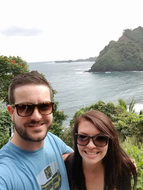 Langley couple Drew and Kailey St. Cyr were honeymooning in Hawaii when a ballistic missile alert was sent to their phone. Photo courtesy Drew St. Cyr
