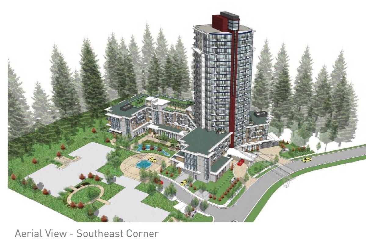 An artist rendering of the proposed 20-storey Oasis tower.                                 Supplied image