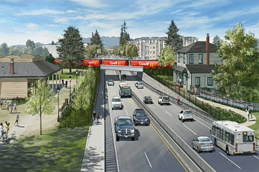 (Contributed)                                An artist's conception of the underpass at Harris Road.