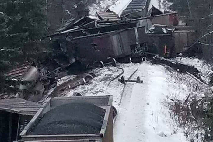 Coal train derailment near New Hazelton. (Ian Johnston photo)