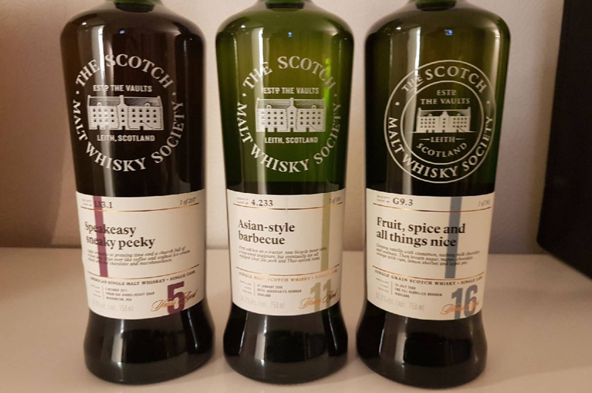 The government inventoried, catalogued, sealed and removed 242 bottles of SMWS whisky worth about $40k from Fets Whisky Kitchen in Vancouver. (Submitted photo)