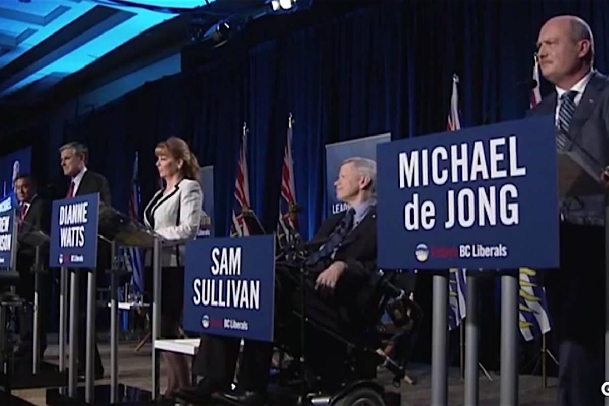 BC Liberal leadership candidates square off in their final debate, Jan. 23, 2018. (Facebook)