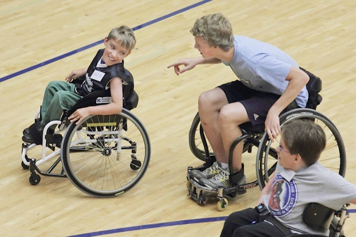 Wheelchair basketball in Langley. File photo