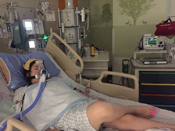 Twenty days ago Langley teen Kenzie Marshall was a happy and healthy teen. Now she is in ICU at Children's Hospital in total heart failure. Doctors believe a virus attacked her heart. Her mom Andrea is praying a heart pump can save her. Otherwise she will need a heart transplant.                                 Submitted photo