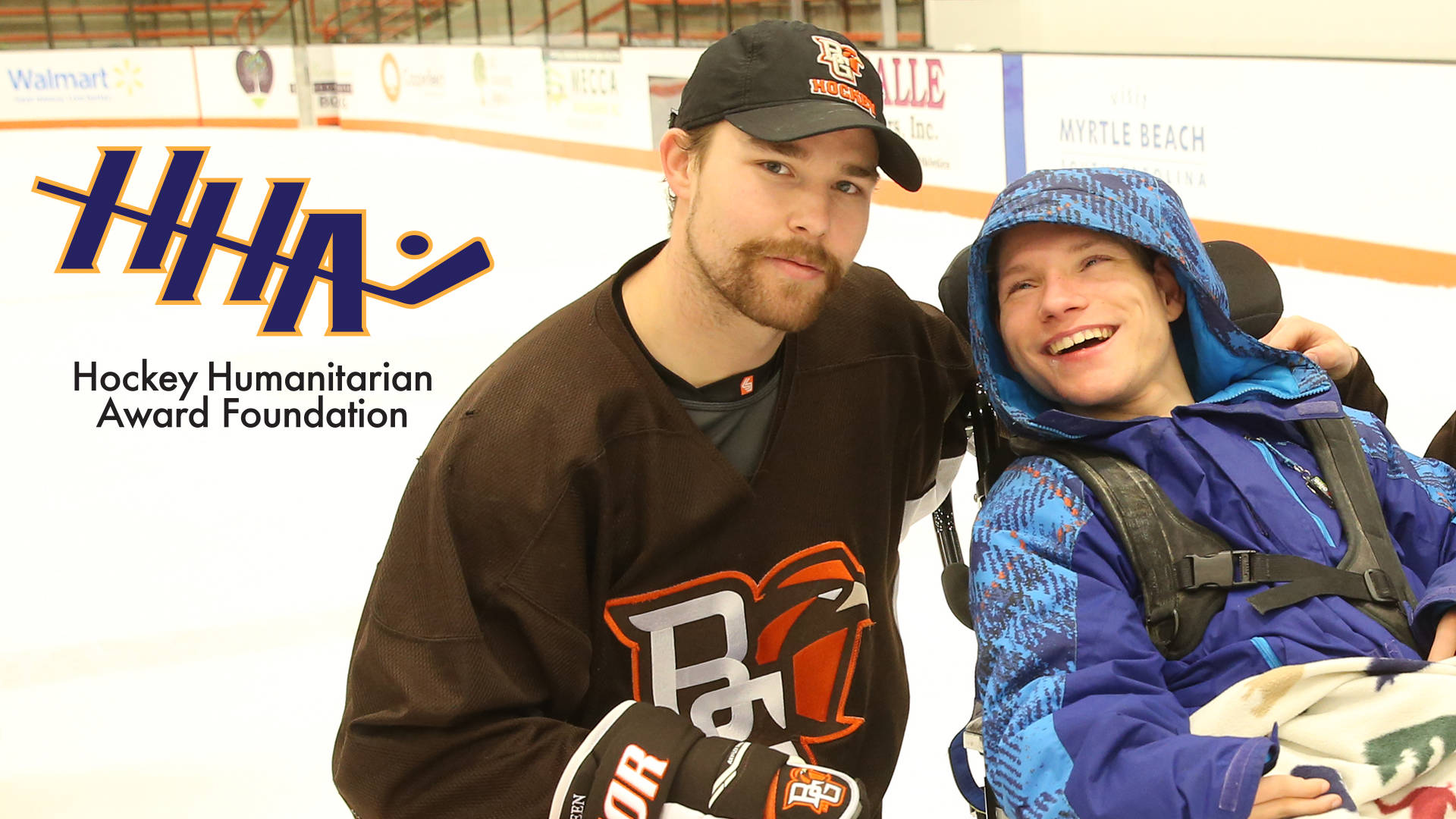 Former Langley Rivermen captain Mitch McClain is up for a hockey humanitarian award. Bowling Green Athletics photo