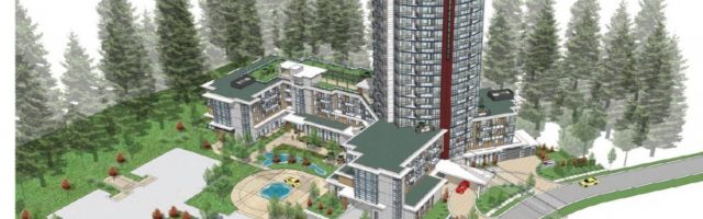 An artist rendering of the 20-storey Oasis tower. Supplied image