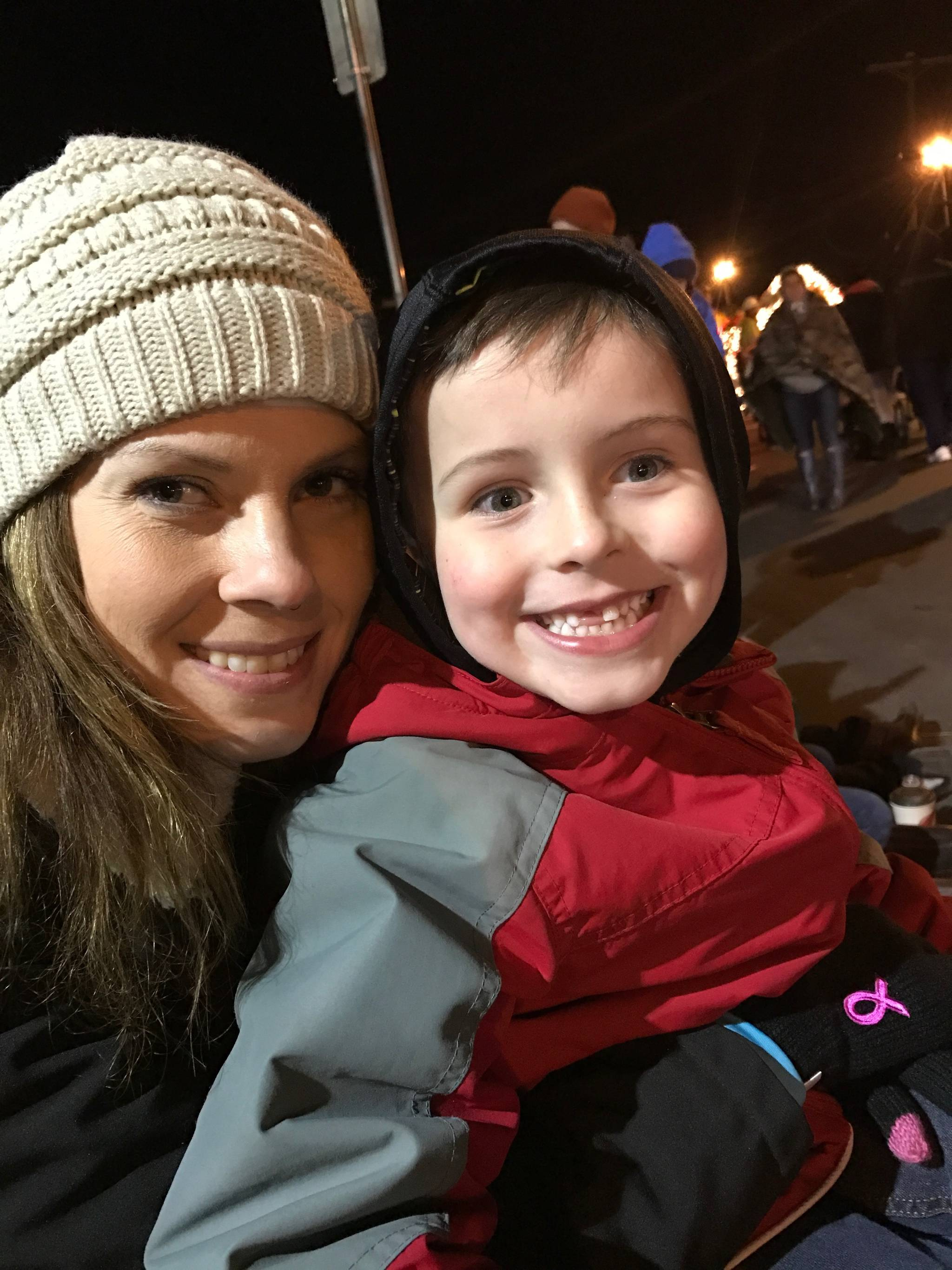 Karen McLaren with her six-year-old nephew during better times. Her nephew is having to learn a lot about cancer and the cost of cancer. Submitted photo