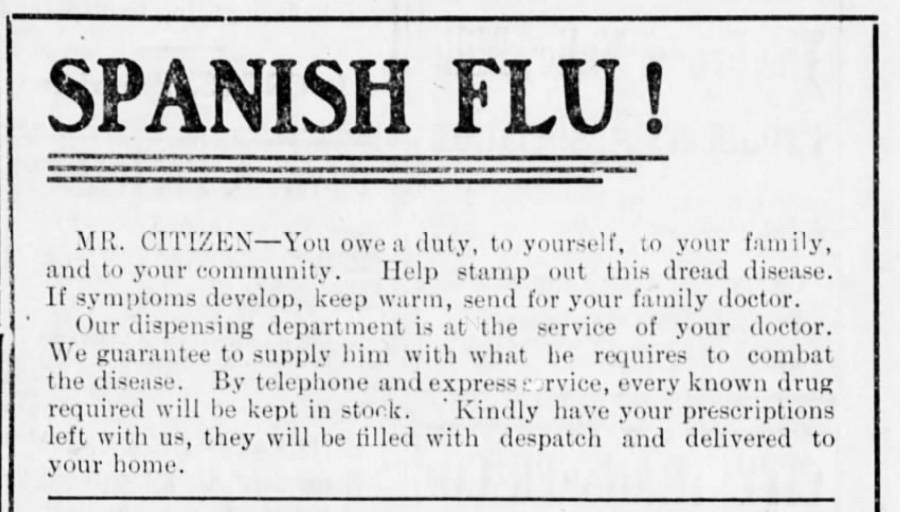 History shows influenza's real potential