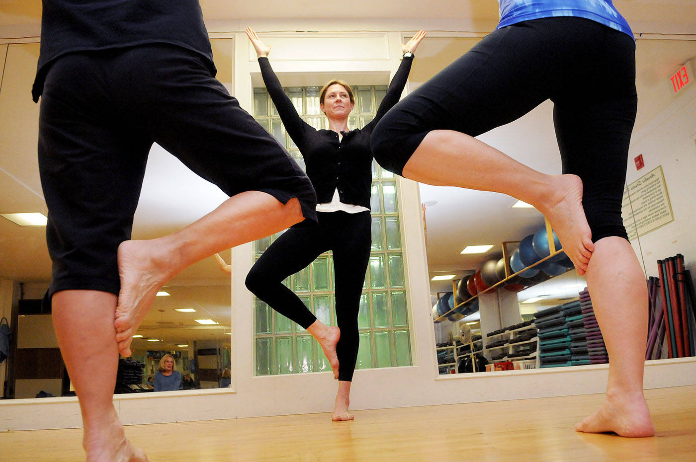 Yoga instructor Adrienne Thompson volunteers every week at Langley Hospice offering both a class for grieving adults and another for grieving teens.                                Troy Landreville Langley Times