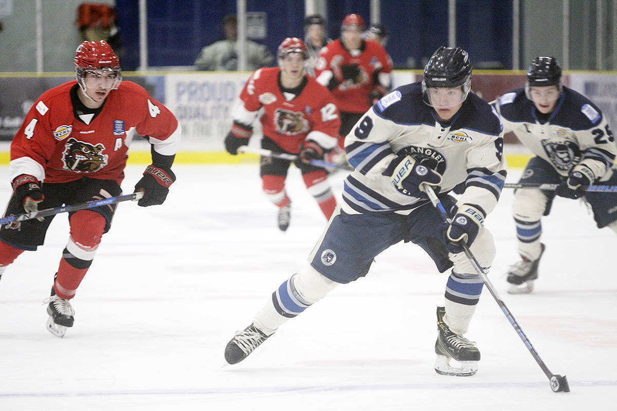 Angus Crookshank scored twice in the Langley Rivermen's 4-1 win over Prince George last week. Crookshank leads the team with 17 goals. Dan Ferguson Langley Times file photo