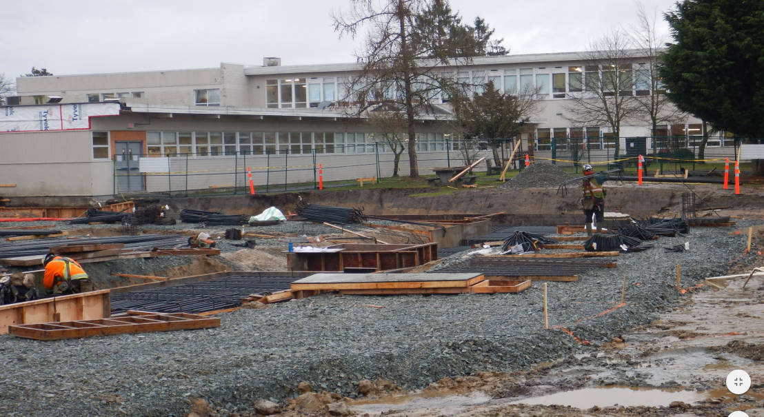 Work on Langley Secondary is well underway and will be for years to come.