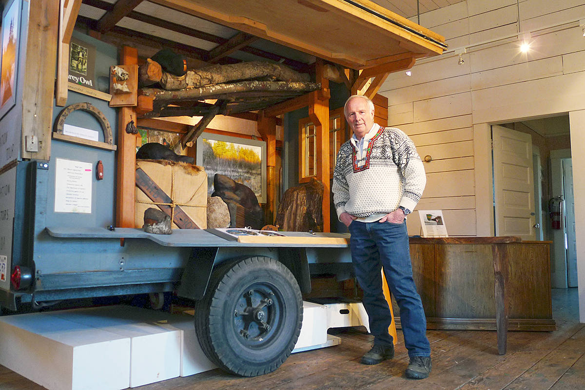 Ted Lightfoot of Langley spent two months towing this converted rail carriage cart across the country to help celebrate Canada's 150 year sesquicentennial by honoring Canada's national symbol, the beaver. It's on display at the CN railway station in Fort Langley. Dan Ferguson Langley Times