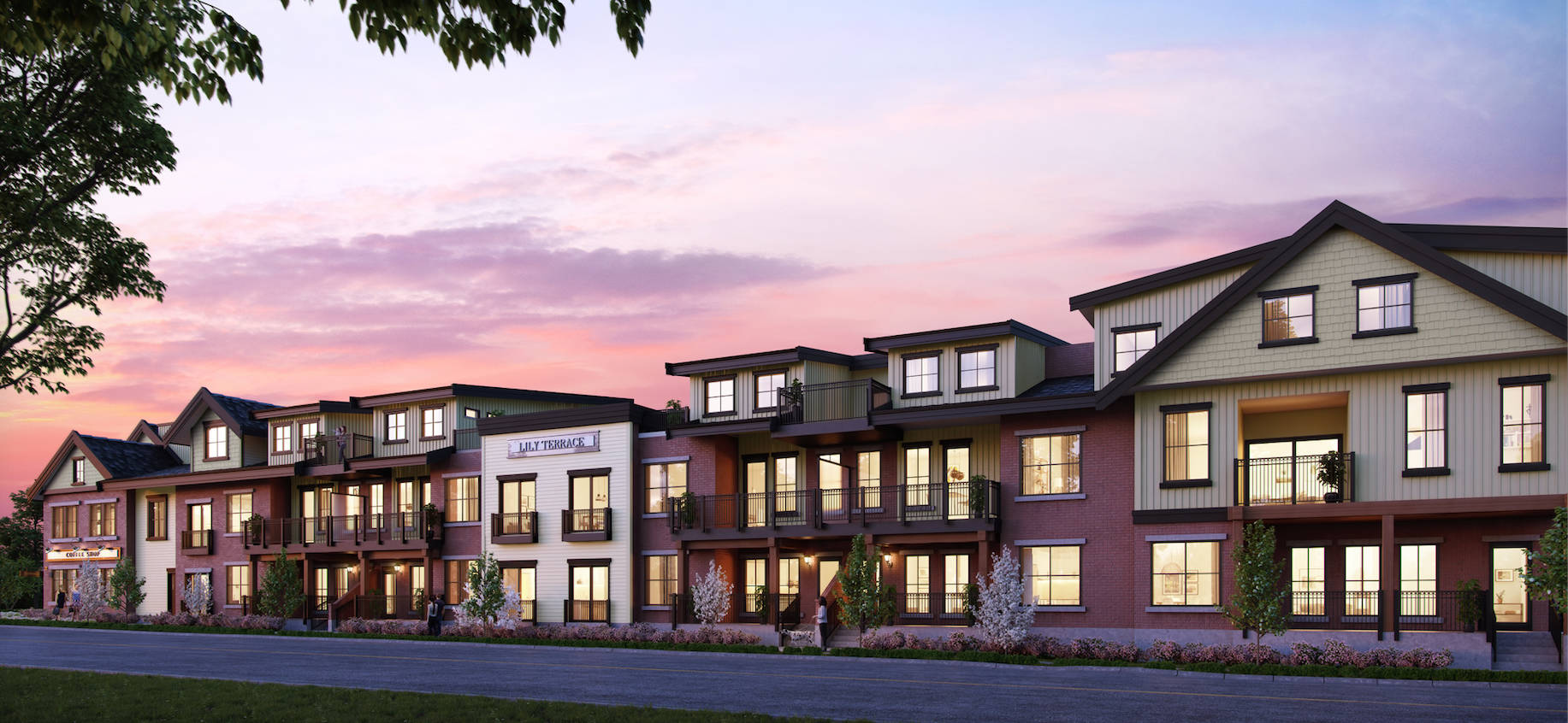 Lilly Terrace by Lanstone Homes will offer 24 luxury condos in Fort Langley. Sales begin mid-March.