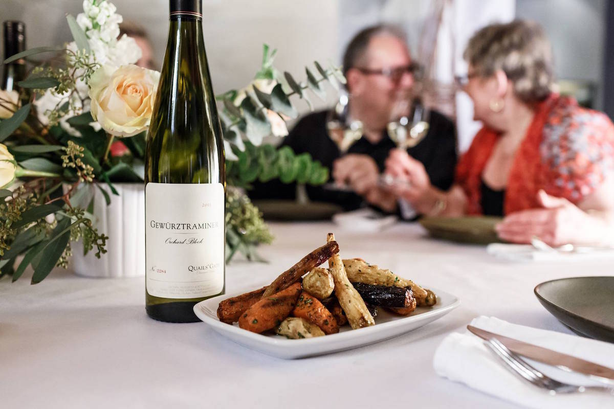 Good food, fine wine and some intimate conversation: romance is is good for you, according to a Vancouver Island couples' therapist. Image: Facebook/Quails' Gate Estate Winery