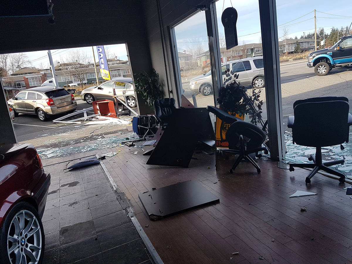Thieves wreaking havoc on Langley City pre-owned auto dealerships