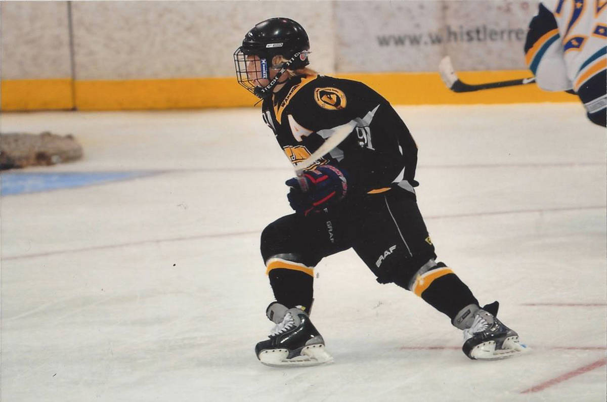 Danton Heinen during his minor days. photo courtesy of Heinen family