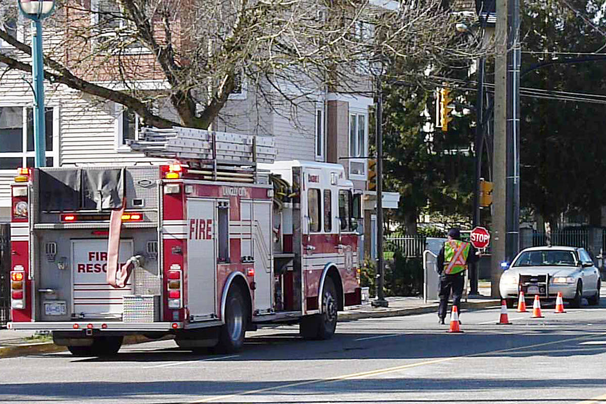 A pedestrian was hit near the intersection of 56 Avenue and 201A Avenue.                                 Dan Ferguson Langley Times