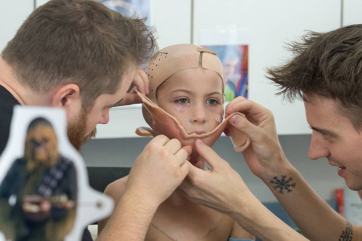 Jacob Tremblay sat for 90 minutes in the makeup chair to play a boy with facial differences in the movie Wonder. Courtesy Lions Gate Entertainment