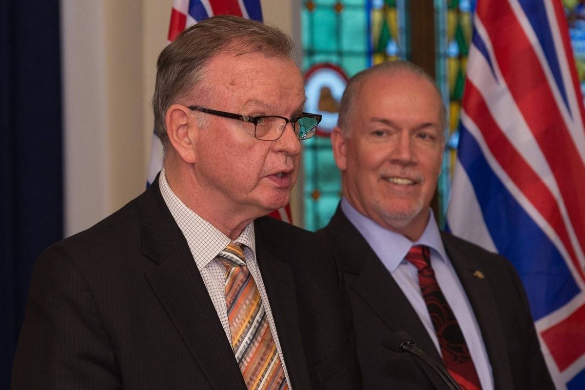 B.C. Jobs, Trade and Technology Minister Bruce Ralston and Premier John Horgan. (B.C. government)