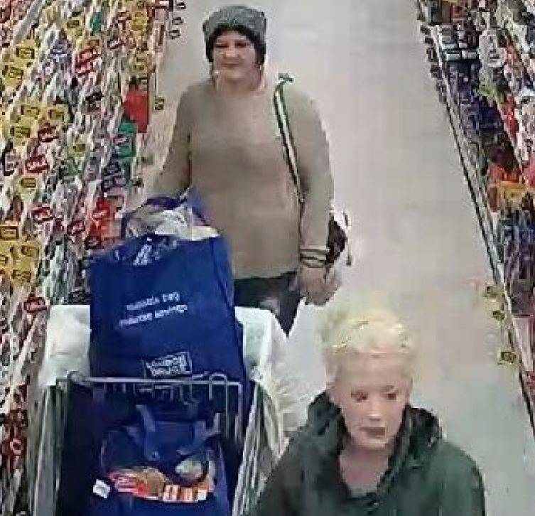 It is alleged two women stole a shopping cart full of groceries from the Otter Co-op on Feb. 11.