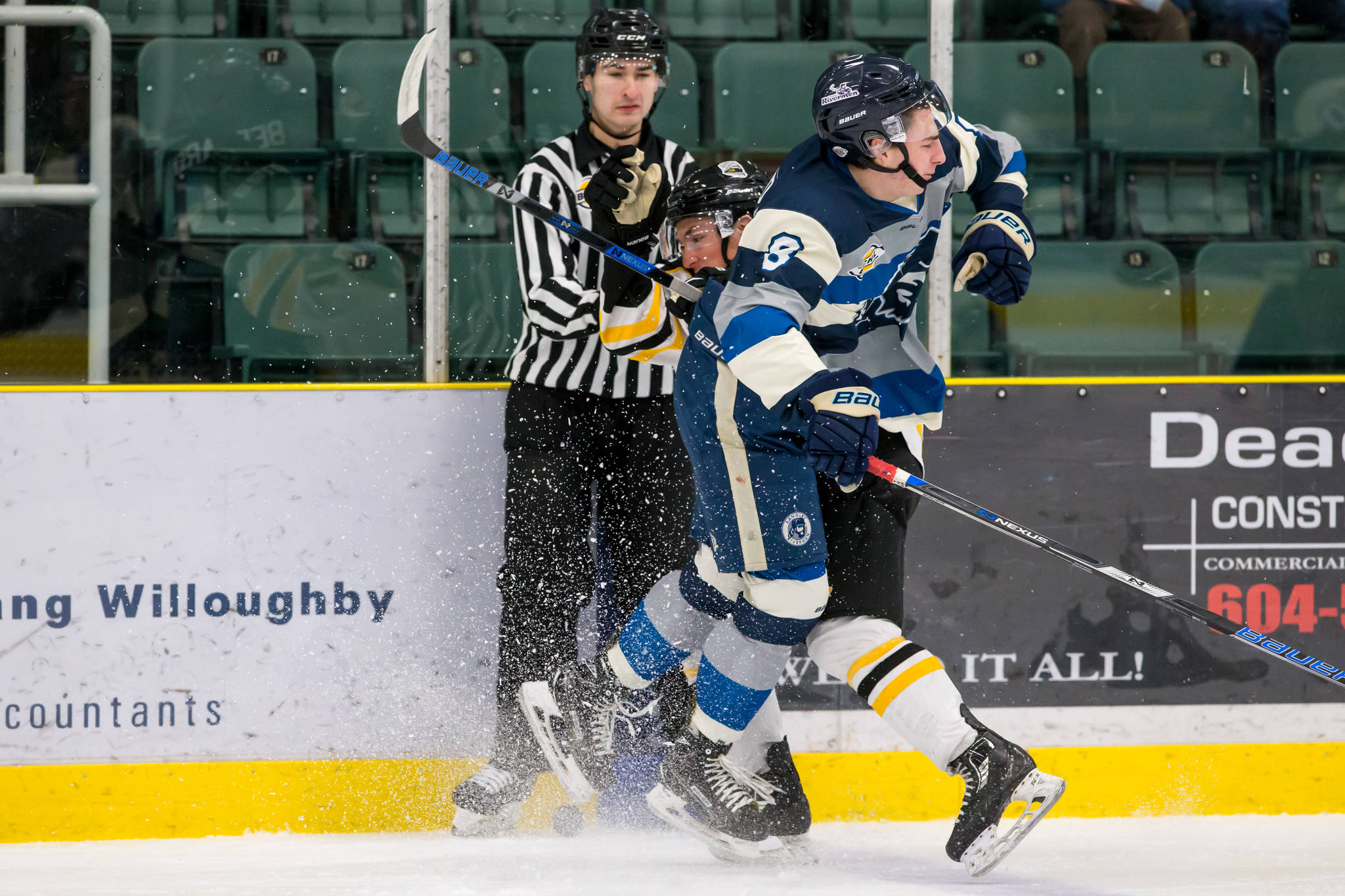 Langley Rivermen's Colin Bernard is the Mainland Division nominee for top defenceman.