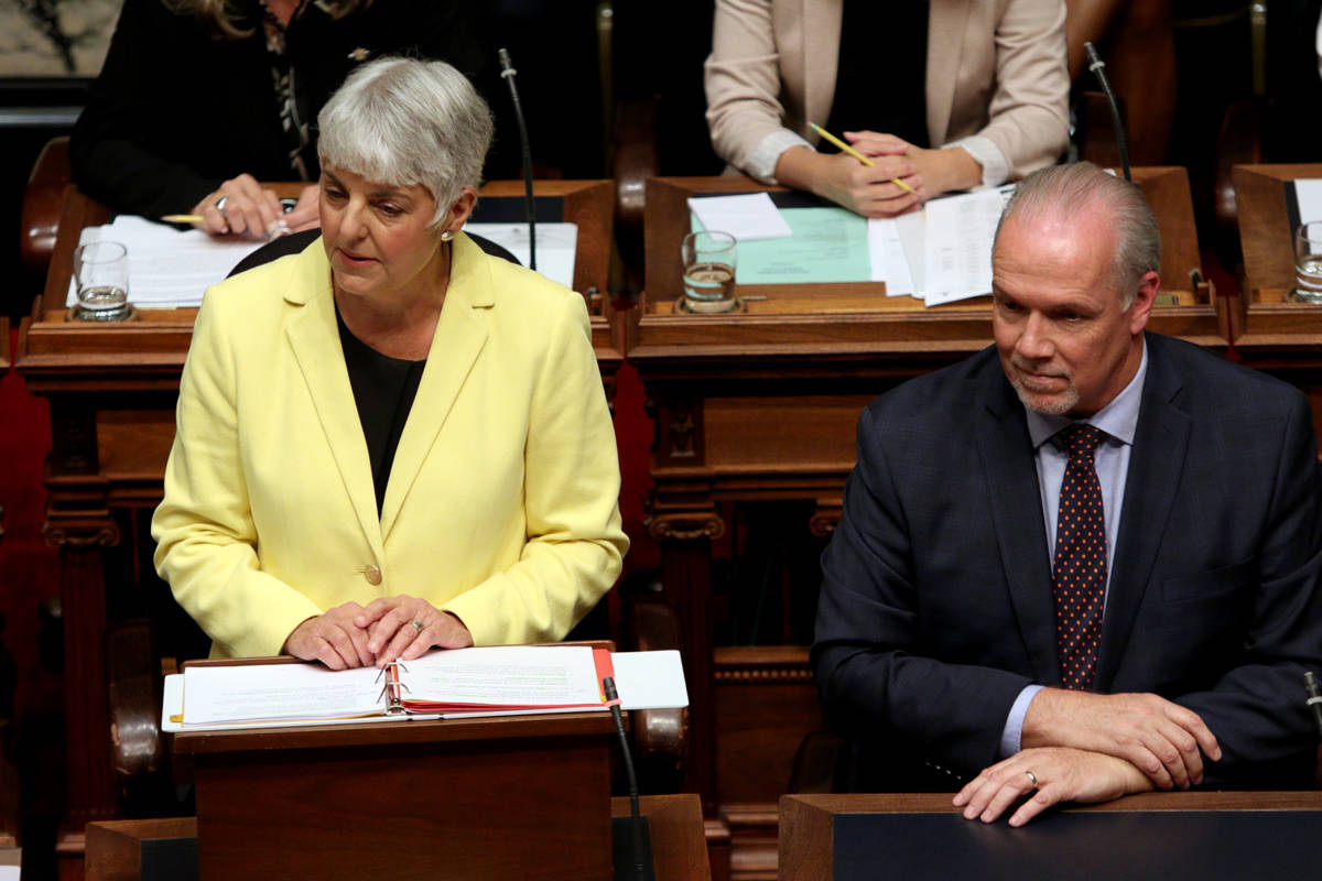 B.C. Finance Minister Carole James and Premier John Horgan have put a heavy emphasis on housing construction. (Chad Hipolito/THE CANADIAN PRESS)