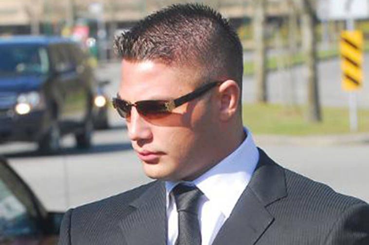 Jarrod Bacon is show here in a 2009 court appearance in Surrey. (Black Press file photo)