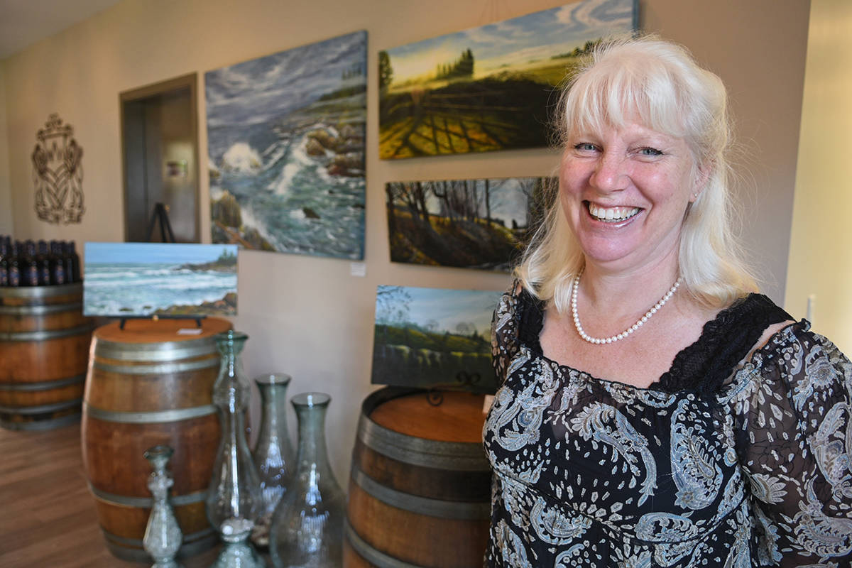Felicty Homes, artist in residence at Glass House Estate Winery, will once again be displaying work at the West Fine Art Show. The show returns to Langley March 9-11 at Yorkson Creek Middle School. Miranda Gathercole Langley Times.
