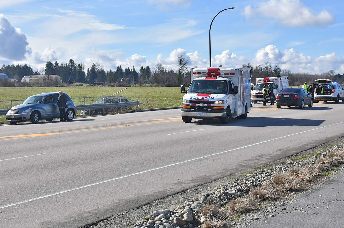 Police responded to an single vehicle motor vehicle accident at approximately 12:15 p.m. on Saturday.