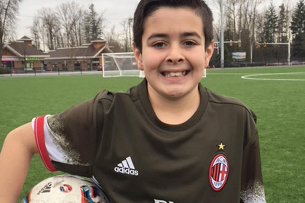 Luca Calandra, 9, is headed to Milan, Italy next week for an international soccer camp. (Leslie Calandra)