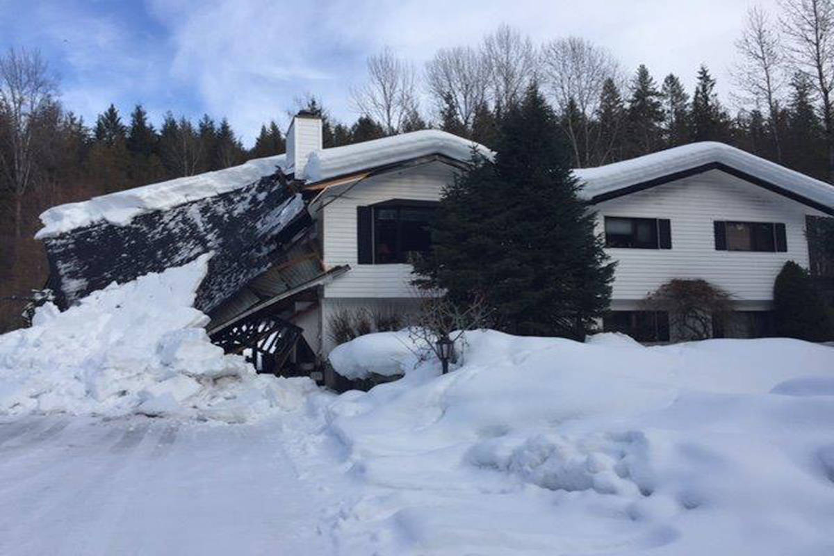 Another Nakusp roof collapses under weight of snow
