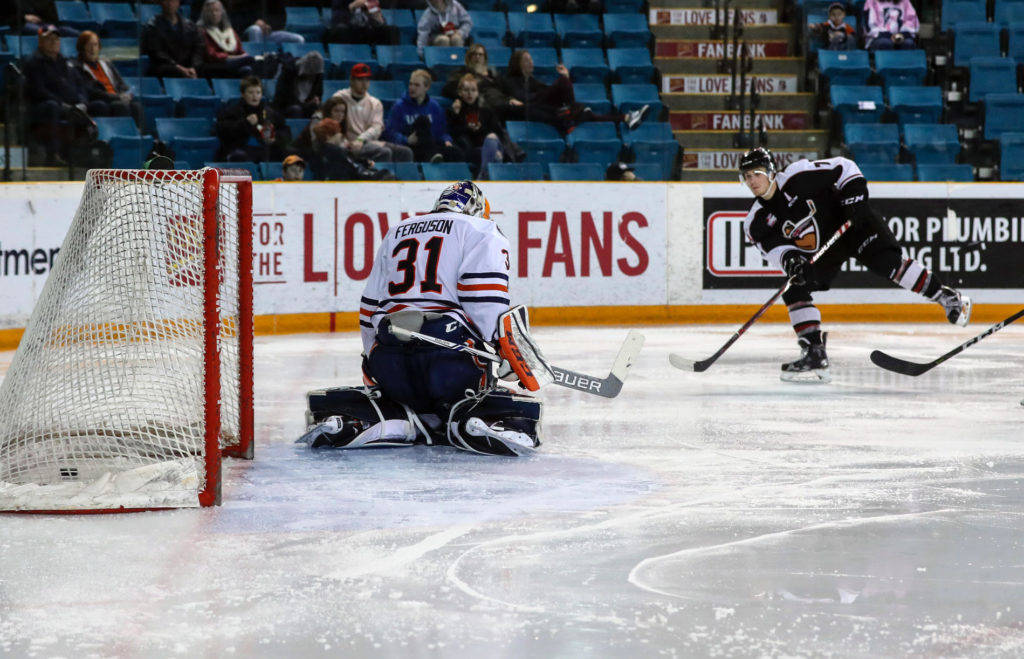 Ty Ronning scored his 60th goal of the season in a 4-1 Vancouver victory on Wednesday night. Allen Douglas photo