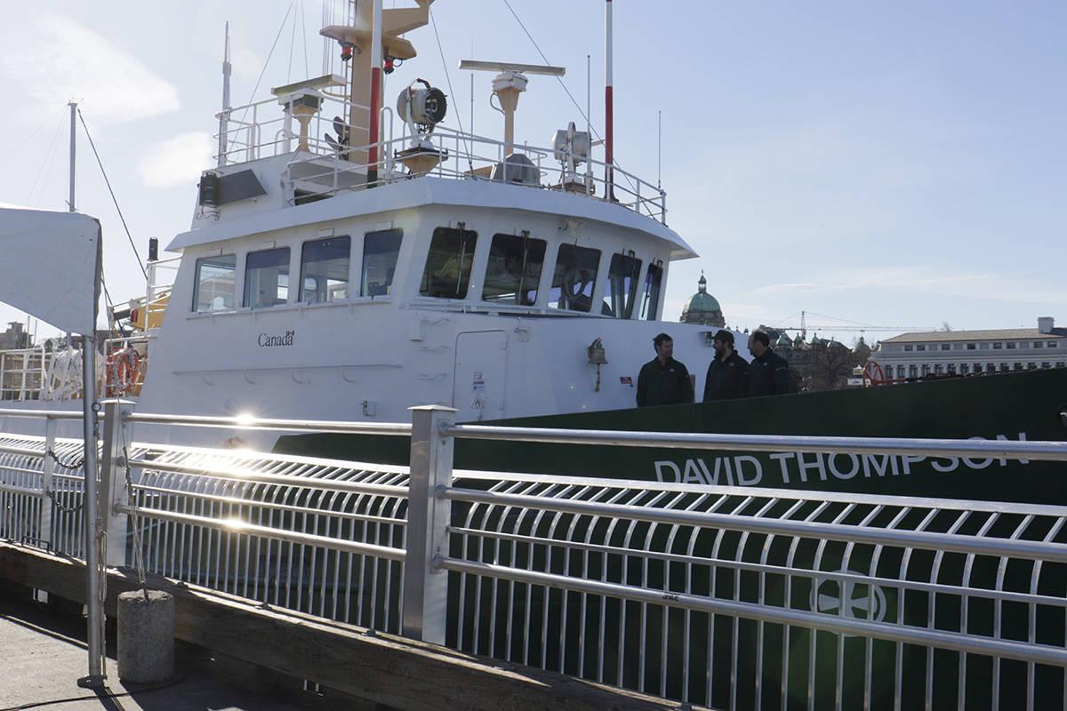 Research vessel RV David Thompson will make its maiden voyage to Alaska from Victoria. (Anna James/VICTORIA NEWS)
