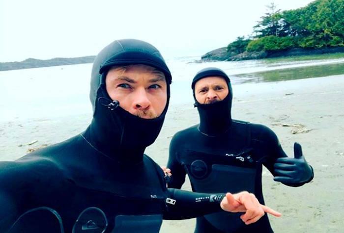 Australian actor Chris Hemsworth spent time in Tofino last weekend and caught some waves. (Instagram/Chris Hemsworth)