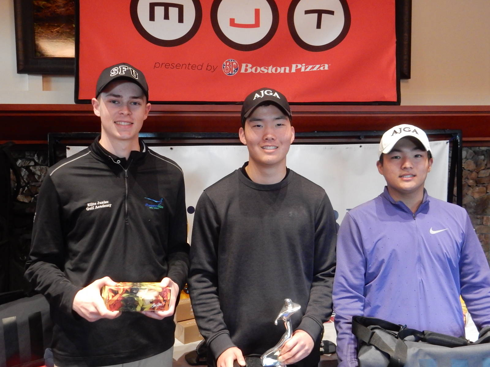 Andy Kim (middle) captured the junior boys' division title at the MJT's season-opening event over the weekend. MJT photo