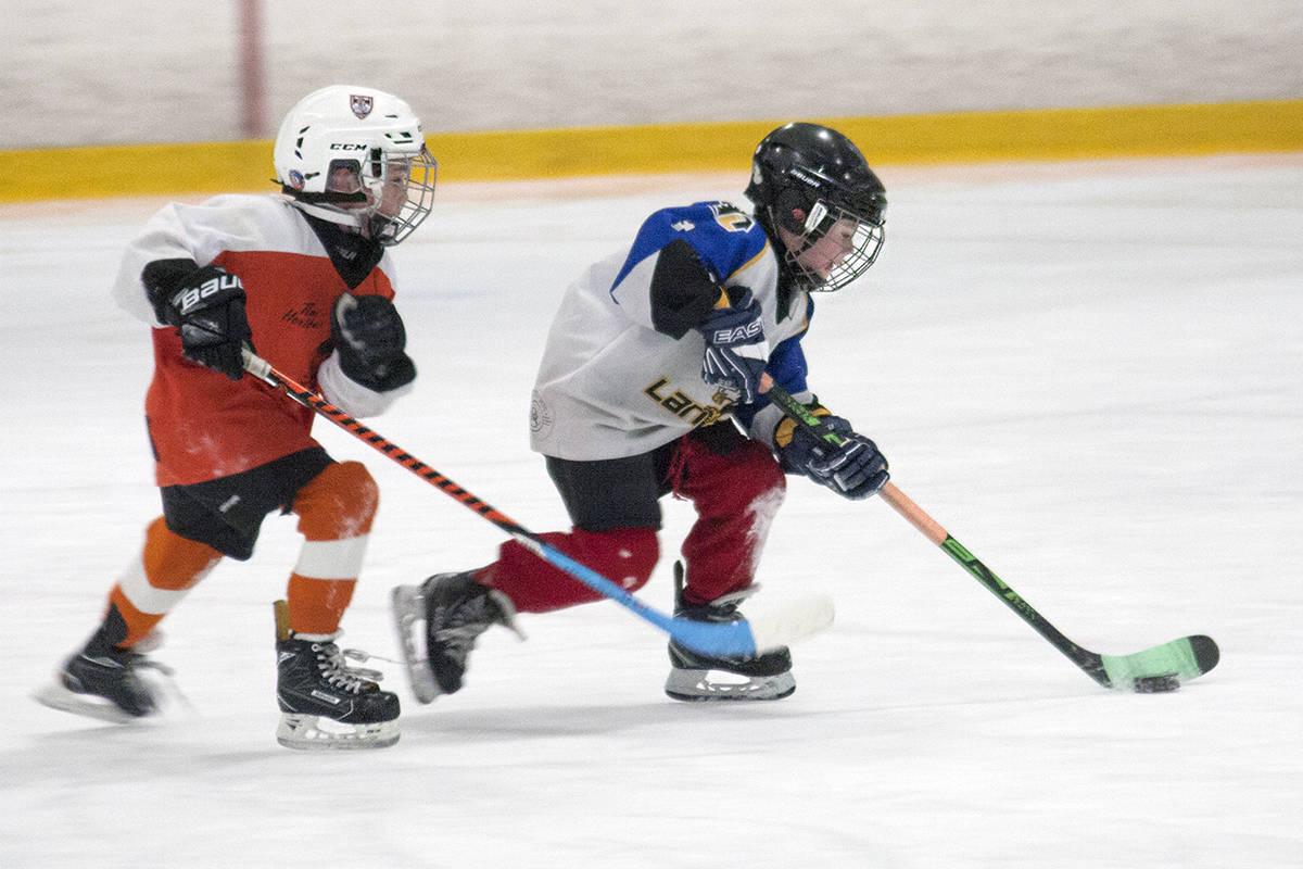 Saturday morning action at the annual Jordan Owens memorial hockey tournament at the Langley Sportsplex. Dan Ferguson Langley Times