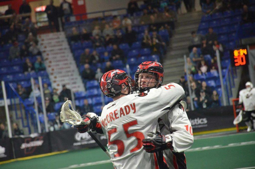 Joel McCready and Rhys Duch are hoping to build on the team's victory in Denver when the Vancouver Stealth return home to face the Calgary Roughnecks in the first of three straight home games for the Stealth. Gary Ahuja Langley Times file photo