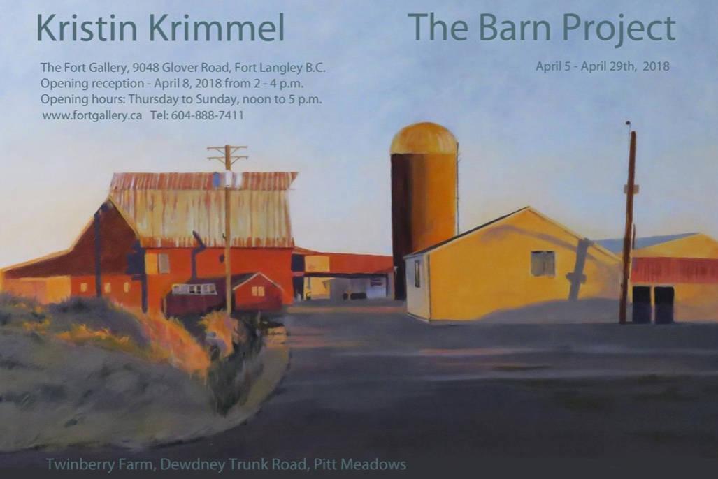 Maple Ridge artist captures local barns on canvas