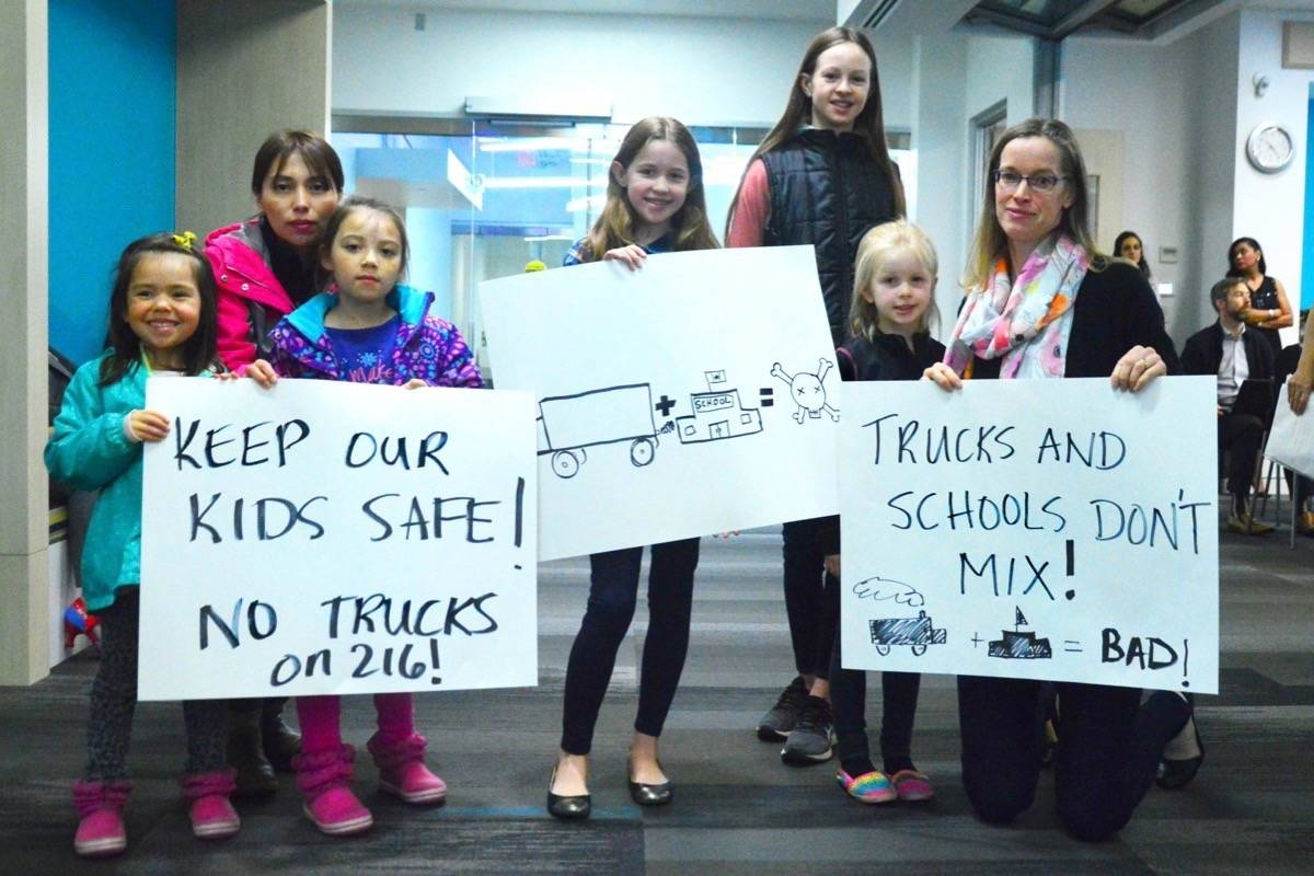 The first delegation at the TransLink board meeting on Thursday morning was a group from Walnut Grove asking for a ban of trucks through the 216 Street interchange. Kat Slepian Black Press