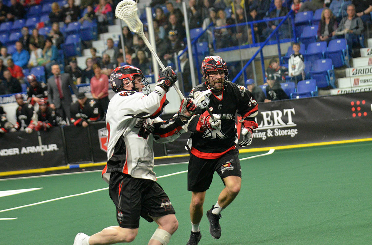 Rhys Duch and the Vancouver Stealth fell 13-9 to Calgary in NLL action at the LEC. Gary Ahuja Langley Times