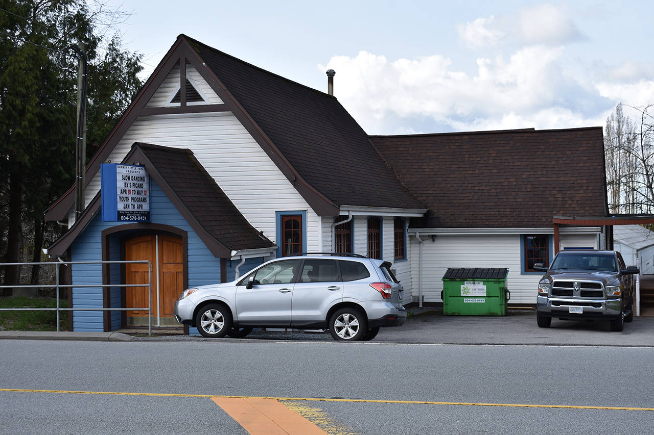 The Surrey Little Theatre, currently located in the historic Clayton United Church, will be looking for a new home as development encroaches. (Grace Kennedy photo)