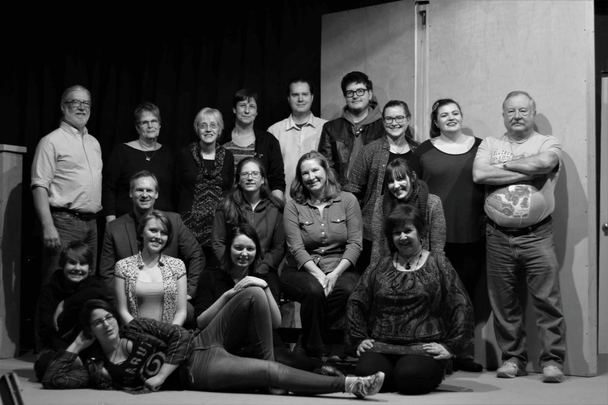 Surrey Little Theatre cast and crew involved in 'Slow Dancing,' running April 19 to May 12. Submitted photo