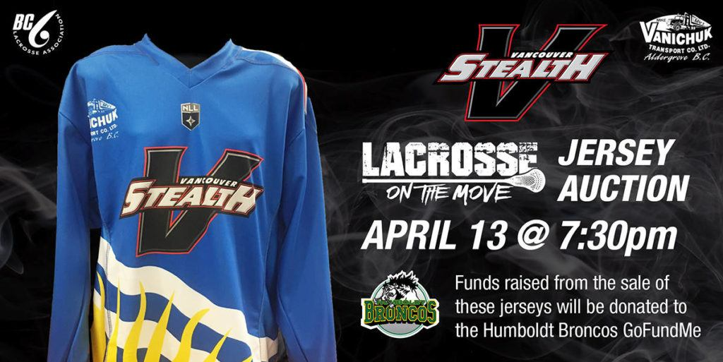 Stealth jersey auction will benefit Humboldt victims