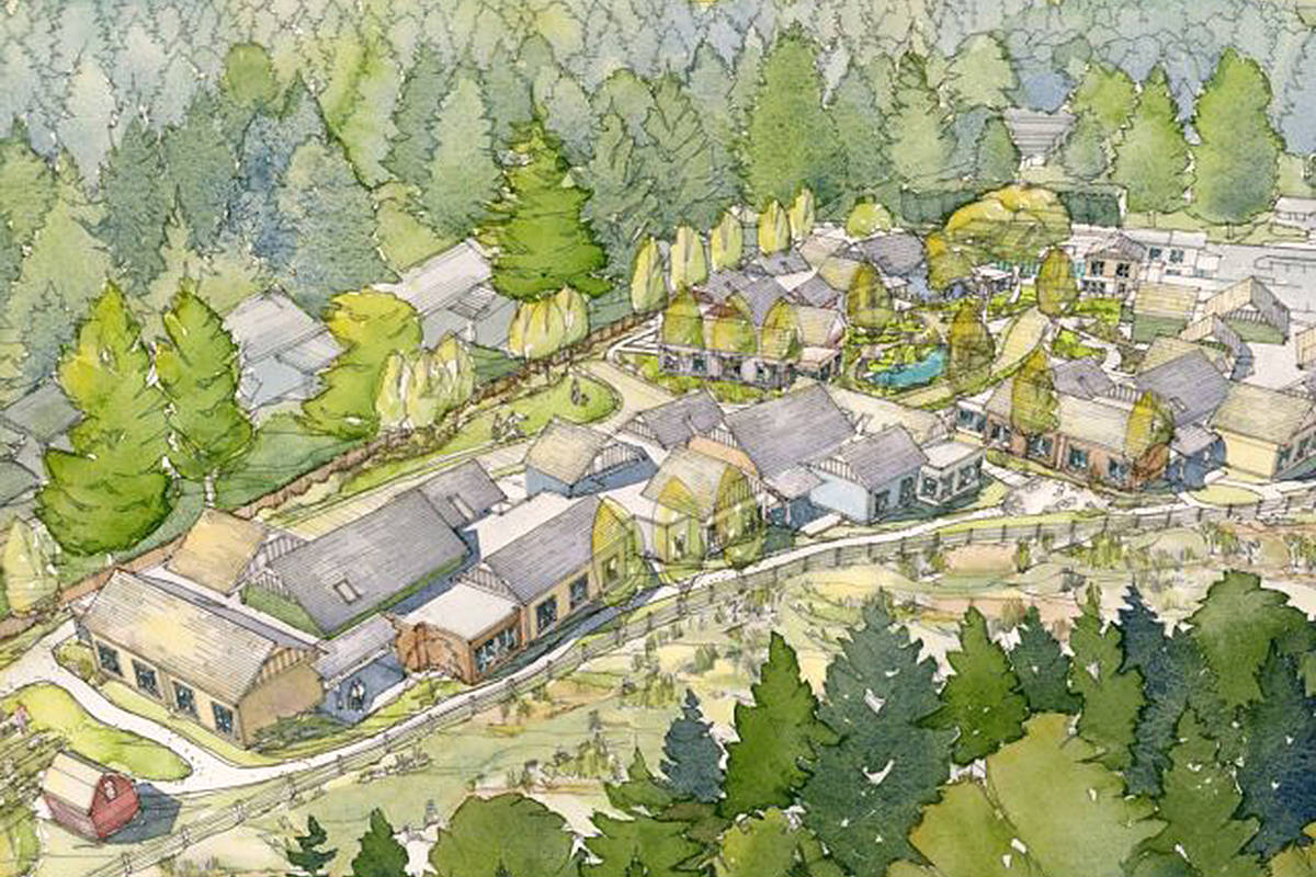 Artists impression of the Village Memory Care Project in Langley. Supplied