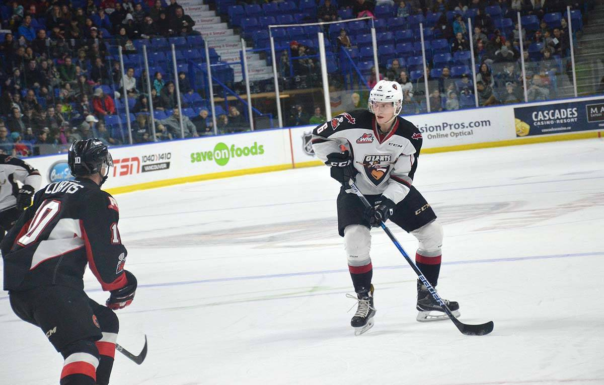 Vancouver Giants Dylan Plouffe led his team in defencemen scoring this past season. Gary Ahuja Langley Times