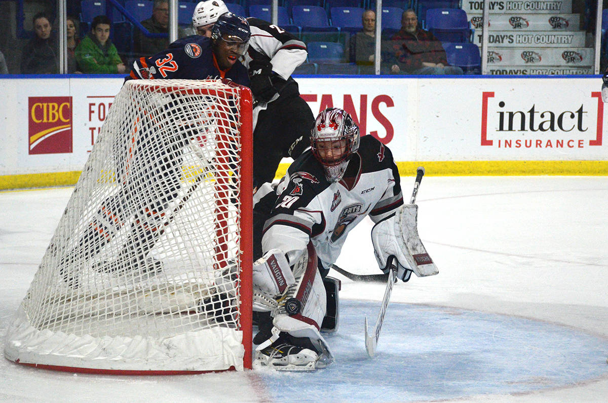Vancouver Giants goaltender David Tendeck is ranked eighth among North American goaltenders for this June's NHL entry draft. Gary Ahuja Langley Times