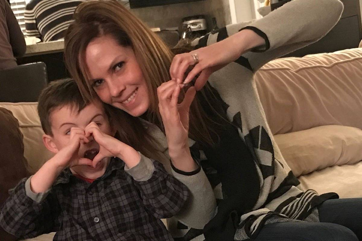 Karen McLaren jokes around with her six-year-old nephew. McLaren who has stage 4 breast cancer has been fighting to get a life-saving drug covered in B.C. Coverage is now available, but only to a select few, not including her.                                 Submitted photo